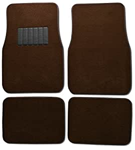 bdk classic carpet floor mats for car auto universal fit front rear with. Black Bedroom Furniture Sets. Home Design Ideas