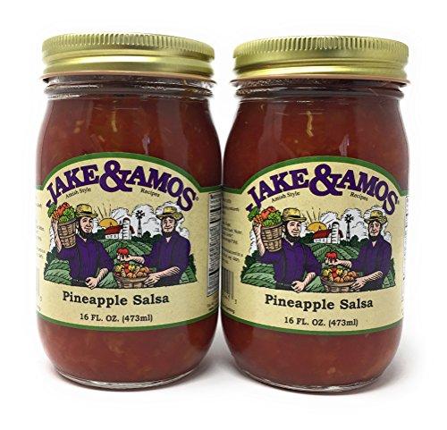 Jake & Amos Pineapple Salsa / 2 - 16 Oz. Jars