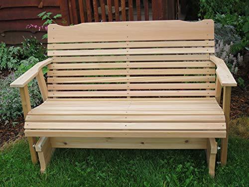 Amazon.com: 4 Cedar Porche planeador, Amish Crafted: Jardín ...