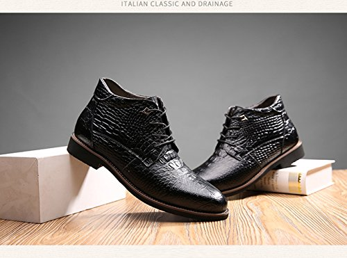Lace For Up Brown Fur Ankle Dress Boots Winter Formal Mens Boots Warm Leather Office Martin Lined CnWFOxZ0