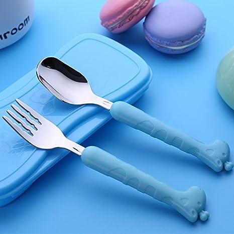 Amazon.com: Xing Lin Juego de cubiertos infantiles bebé ...