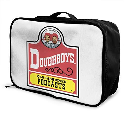 Old Fashioned Doughboys Lightweight Large Capacity Portable Luggage Bag Fashion Travel Duffel Bag