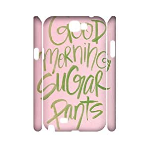 Custom New Case for Samsung Galaxy Note 2 N7100 3D, Good Morning Phone Case - HL-518435