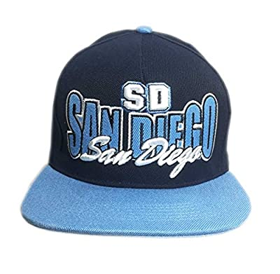 Aesthetinc 3D Embroidered SD San Diego Snapback Fitted Cap Hat