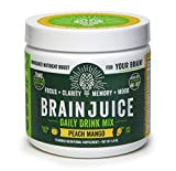 BrainJuice Brain Booster Daily Drink Mix, Original Peach Mango   Supplement for Improved Energy, Memory, Focus, Clarity & Mood, Gluten-Free, Non-GMO   30 Servings