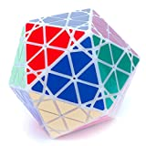 MF8 Radiolarian White Icosahedron Face Turning Twisty Puzzle Cube Toy