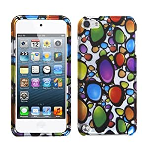 Snap on Cover Fits Apple iPod Touch 5 (5th Generation) 2D Silver Rainbow Gemstones (Please carefully check your device model to order the correct version.)
