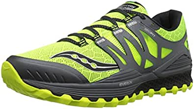Saucony Men's Xodus Iso Trail Runner, Cotton/Grey, 7 M US