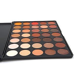 Miskos 35 Colors Professional Makeup Eyeshadow Pallet Shimmer Matte Eye Shadow Set Cosmetic Product #35 Series (35B)