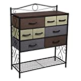 Household Essentials 8-Drawer Chest, Black