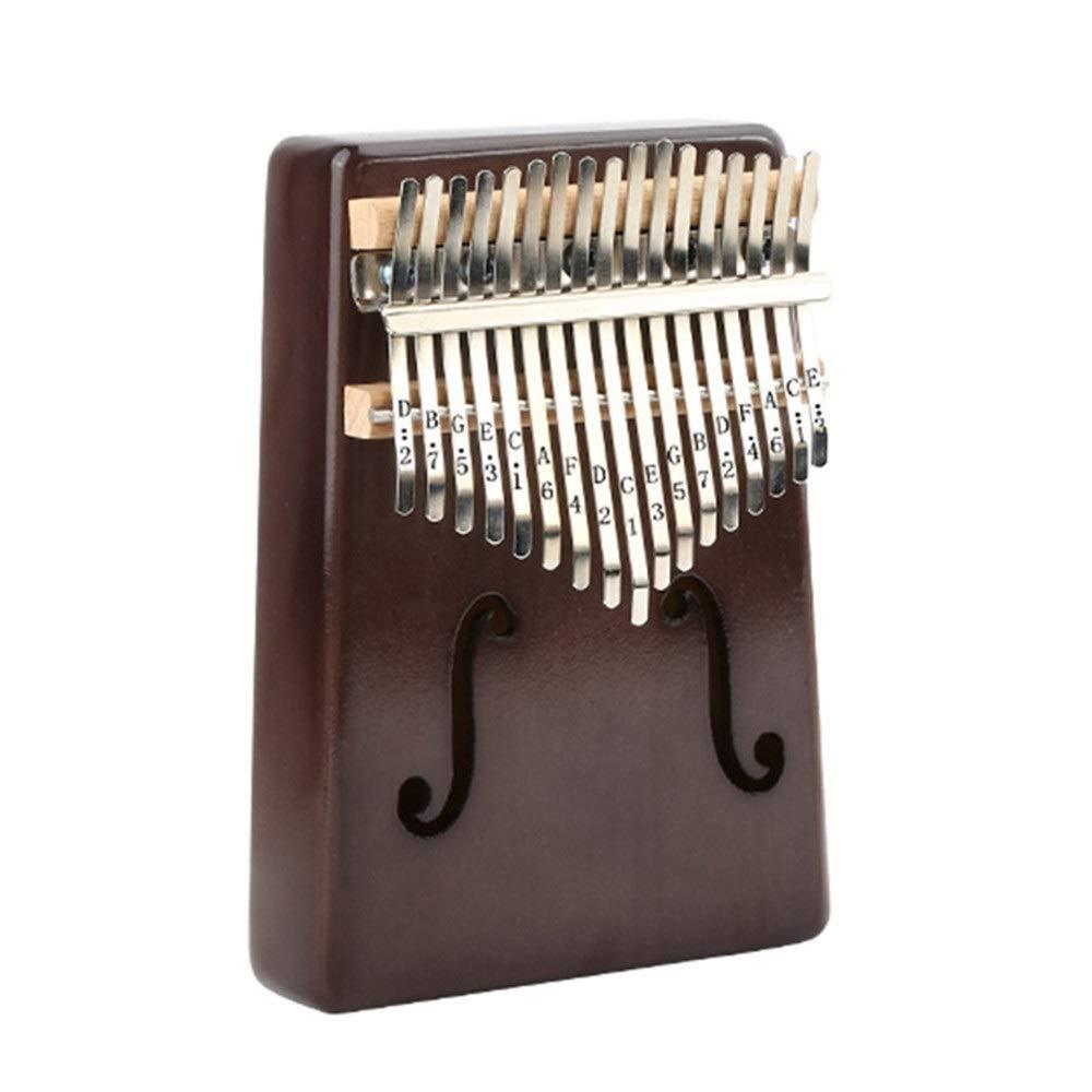 Thumb piano 17 Keys Kalimba Thumb Piano Standard C Tune Finger Piano Metal Mahogany Wood Engraved Notation Tines With Tuning Hammer Pickup Carry Bag Kids Musical Instrument Gifts for performance, reco