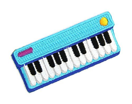 Keyboard Jam Embroidered Sew or Iron-on Backing Patches
