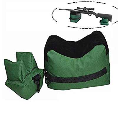 Handmade Shooting Gun Rest Bag, Outdoor Tack Driver Hunting Gun Accessories, Target Sports Rifle Bench - Unfilled, Green