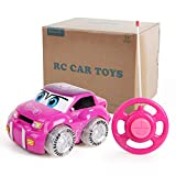 BeebeeRun RC Car Toy for Girls | Pink Purple Remote Control 2CH Racer Vehicle for Kids, Toddlers