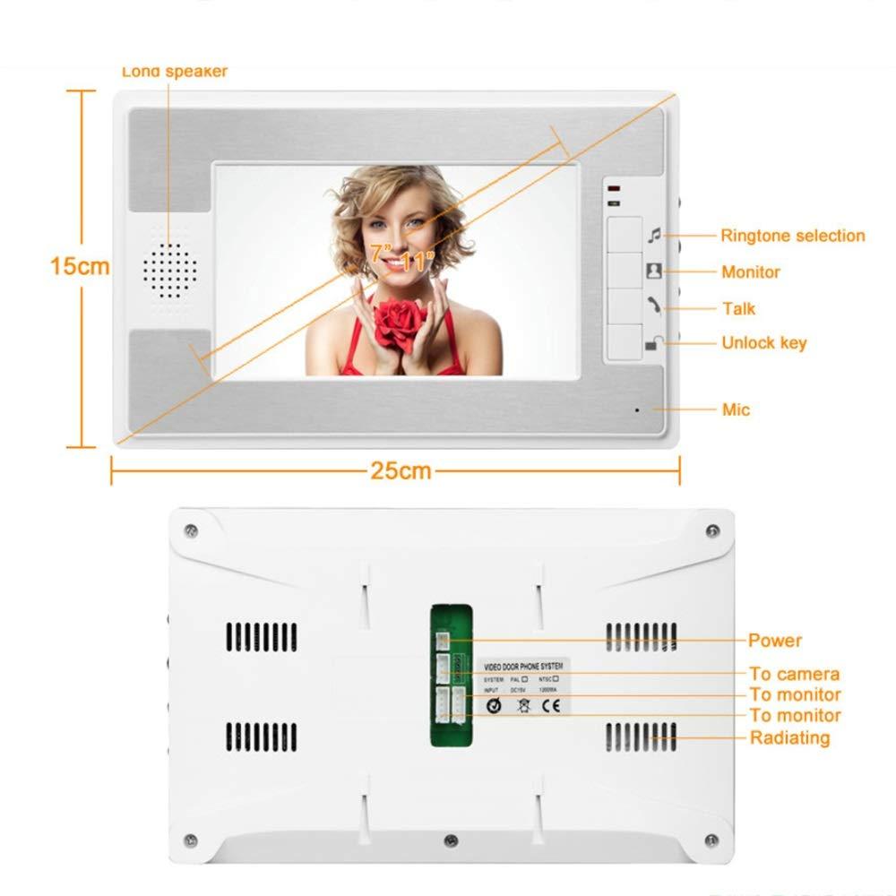 KRPENRIO 7-inch swipe waterproof HD video doorbell by KRPENRIO (Image #4)