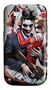 Samsung Galaxy I9300 Case, Samsung Galaxy I9300 Cases -Joker and Harley Quinn Polycarbonate Hard Case Back Cover for Samsung Galaxy S3/I9300 3D