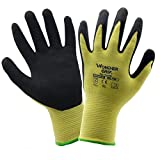 vismile Wonder Grip Nitrile Palm Thick Oil and Cut Resistance Safety Working Gloves