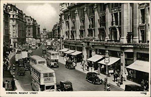 Regent Street London, England Original Vintage Postcard