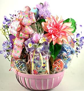 Amazon classic easter basket gourmet candy gifts grocery gift basket village family fun easter basket negle Image collections