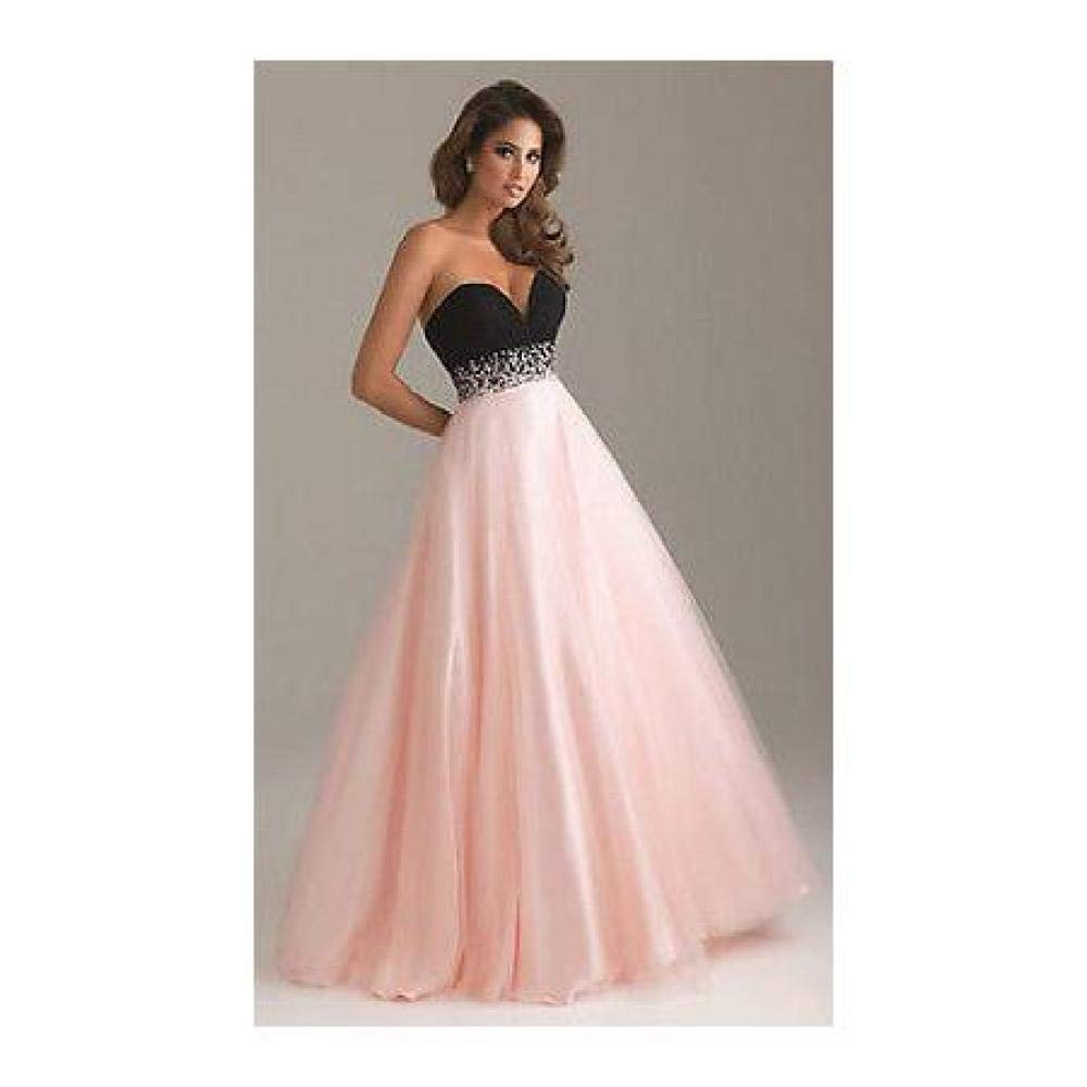 Pink and Black FidgetGear Wedding Gown Prom Ball Evening Dress Size 6 8 10 12 14 16 18