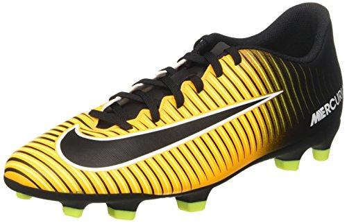 Iii Fg Soccer Cleats - Nike Mercurial Vortex III FG Mens Football Boots 831969 Soccer Cleats (UK 9 US 10 EU 44, Laser Orange Black White Volt 801)