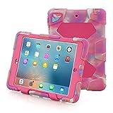 iPad Mini 4 Case, Aceguarder New Design iPad Mini 4 Case Rainproof Dirtproof Shockproof Cover Case With Stand Super Protection for iPad Mini 4 (Pink Camo-rose)
