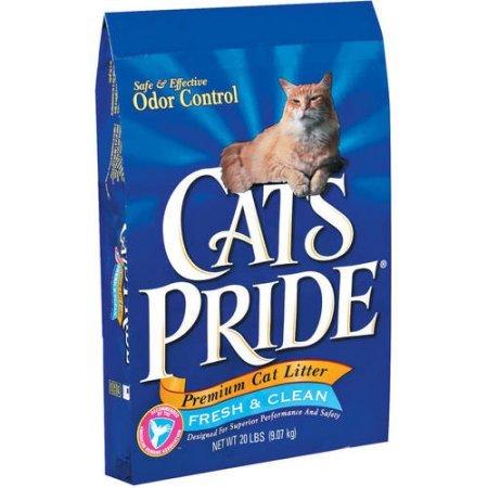 Cat's Pride Premium Clay Cat Litter, 20-Pound Bag (4 Packs) (Cats 20 Lb Bag)