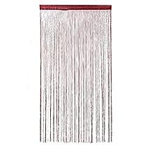 uxcell® Colorful Door String Thread Fringe Window Panel Room Divider Curtain Strip Tassel, 1 x 2M (Burgundy)