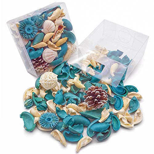 (DomeStar Sea Shell Potpourri Bag, Fresh Ocean Scent Sea Shell Conch and Rattan Ball Sachets Decorative Spring Fragrance Bowl Filler and Vase Filler)