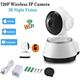 Simply Silver - Wireless 720P Pan Tilt Network Security CCTV IP Camera Night Vision WiFi Webcam