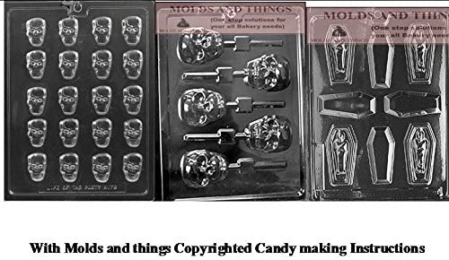 Casket with Mummy Halloween Chocolate Candy Mold