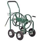 Balance World Inc Outdoor Garden Water Hose Reel Cart Yard Planting + Basket