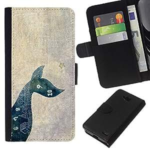 KLONGSHOP // Tirón de la caja Cartera de cuero con ranuras para tarjetas - Matemáticas perro de mascota minimalista - LG OPTIMUS L90 //