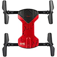 Wifi RC Quadcopter Drone 2.4GHz Mini Drone with Foldable Arms(Red with Camera)