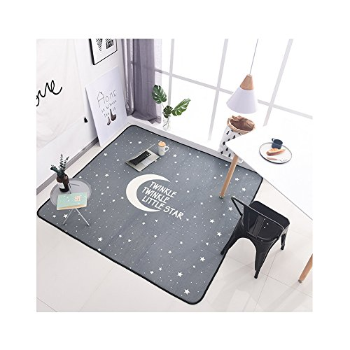 Northern Fresh Style Kids Carpet - Summer Skid-proof Children Play Rug Indoor Activity 71 x 77 Inch