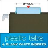 Pendaflex 42BLU Hanging File Folder Tabs, 1/5