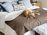 Orvis Reversible Dog Blanket / Only Reversible Dog-proof Throw, Bark, Large
