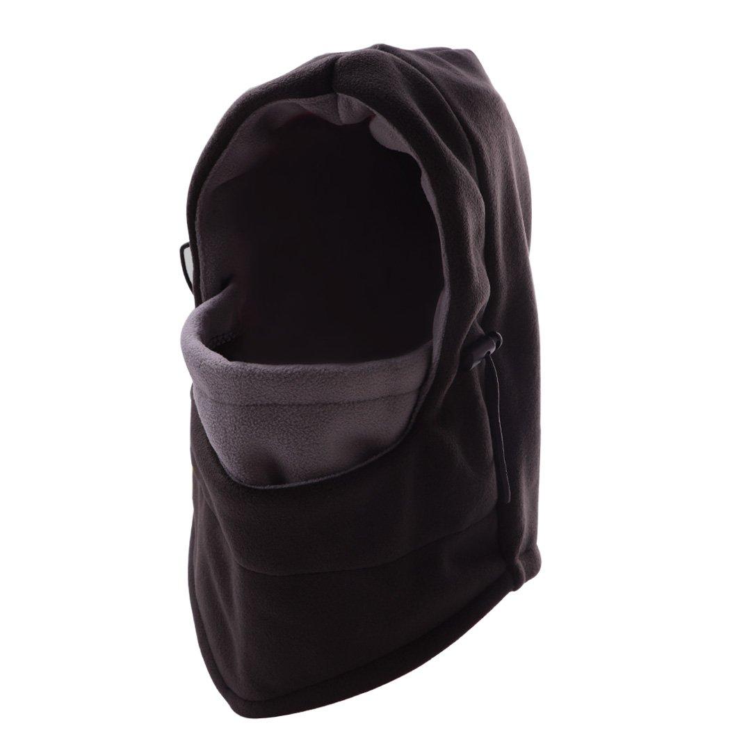 JTTVO Tactical Balaclava Hood Thermal Veil Face Mask HatGrayBlack)