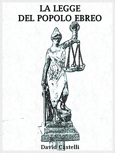 La legge del popolo Ebreo (Italian Edition) by [Castelli, David]