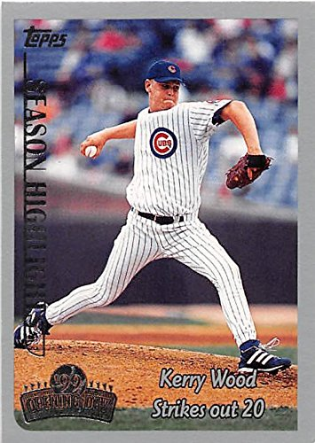 Kerry Wood baseball card (Chicago Cubs All Star) 1999 Topps Opening Day #162 20 Strikeouts