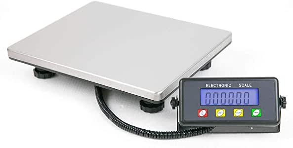 TUFFIOM Digital Heavy Duty Shipping Postal Scale, 440 lbs Capacity x 1.8oz Readability, with Large Durable Stainless Steel Platform, LCD Display, Luggage Scale for Post Office, Home