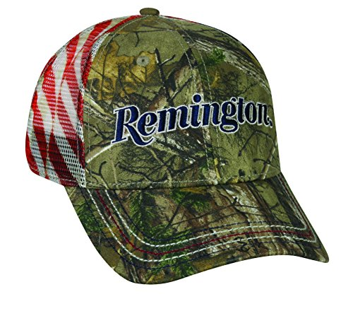 Camo Full Back Cap - Remington Americana Mesh Back Cap, Realtree Xtra Camo