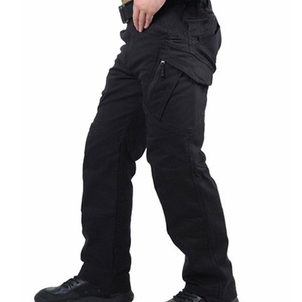 con Muchos Bolsillos Army Pantal/ón 38//36 Negro Warrior Blackhawk Tactical Pants