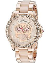 Betsey Johnson Womens BJ00246-10 Analog Display Quartz Rose Gold Watch