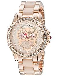 Betsey Johnson Women's BJ00246-10 Analog Display Quartz Rose Gold Watch