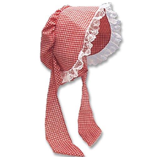 Bonnet Prairie (J18290 (Red Gingham) Prairie Bonnet)
