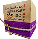 Goat Milk Soap Anti-Aging Formula For Face Cleaning and Moisturizing Made With Frankincense Essential Oil and Clary Sage Which Provide Astringent Properties For The Skin (3 Pack) Review