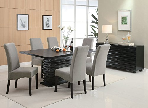 Coaster CO-102061-62x3 Dining Set, Black