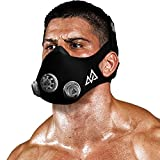 Training Mask - Workout Mask Chrome Series 2.0 for Cardio Endurance and Fitness Breathing Resistance Mask, Running Mask (Platinum, Small)