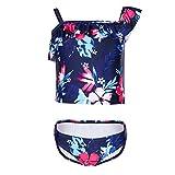 Girls' Floral One Shoulder Bikini Beach Sport